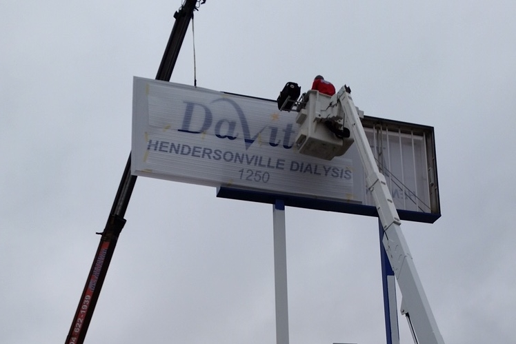 sign hanging installation charlotte nc